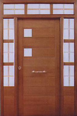 Puertas de madera exterior modernas