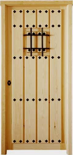 Puertas de madera exterior rústicas