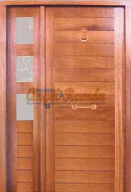 Modelo cl 10 puerta exterior de madera moderna for Puerta blindada casa