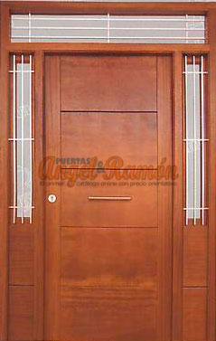 Modelo cl 14 puerta exterior de madera moderna for Modelos de puertas de madera modernas para exteriores