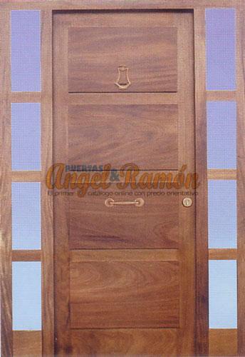 Modelo 048 Puerta Exterior De Madera Moderna