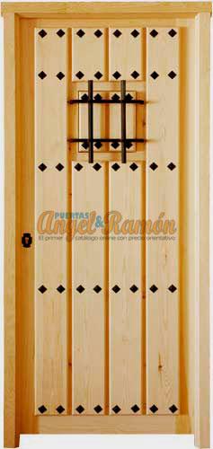Modelo c 35 puerta r stica de madera exterior - Puertas baratas bricodepot ...