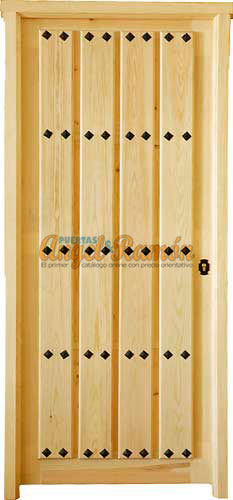Modelo c 36 puerta r stica de madera exterior for Catalogo de puertas de madera para exteriores