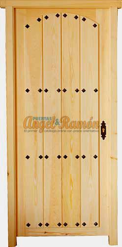 Modelo c 37 puerta r stica de madera exterior - Puerta rustica exterior ...