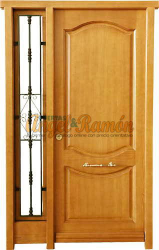 Modelo f 10 puerta exterior de madera cl sica - Modelo de puertas de madera ...