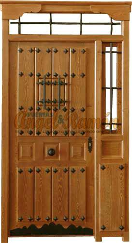 Modelo r 18 puerta r stica de madera exterior - Puerta rustica exterior ...