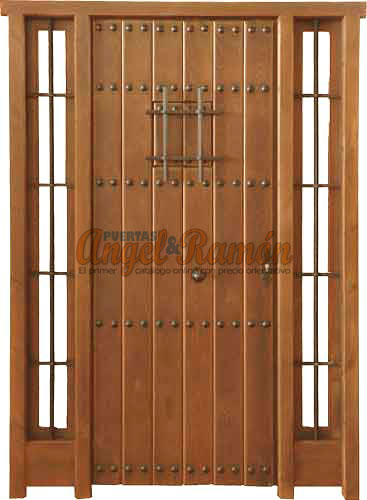 Modelo r 22 puerta r stica de madera exterior - Puerta rustica exterior ...