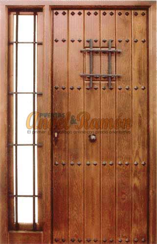 Modelo r 24 puerta r stica de madera exterior for Puertas rusticas de exterior precios