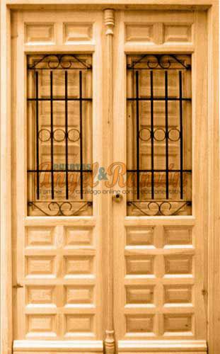 Modelo r 29 puerta r stica de madera exterior - Puertas de exterior ...