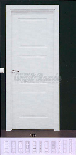 Modelo lac 103 puerta interior lacada blanca for Puertas de interior blancas precios