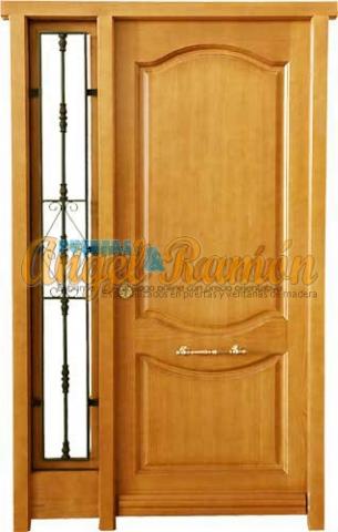 Modelo f 10 puerta exterior de madera cl sica for Modelos de puertas de madera