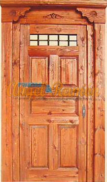 porton-calle-madera-rustico-artesanal-mensulas talladas-pino-emvejecida-artesanal-stock-ofertaentrada-puerta
