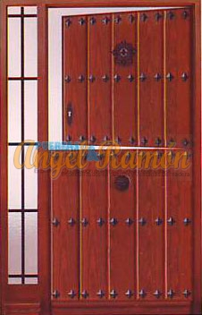 puerta-calle-partida-rustica-madera-entrada-exterior-lateral-clavos-forja-amedida-pino-iroko-oferta-barata