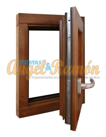 ventana madera 1hoja perfil europeo