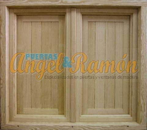 ventana madera castellana con contraventanas