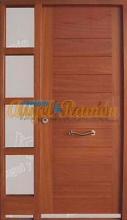 Puerta-moderna-iroko-fijo,montante,laterales-barata-oferta-a medida,calle-exterior