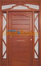 Puerta-moderna-iroko-fijo,montante,laterales-barata-oferta-calle-exterior a medida