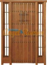 puerta-rustica-entrada-madera-laterales-porton-emvejecido-pino-iroko-amedida-oferta-barato-rejas