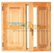ventana de madera modelo v