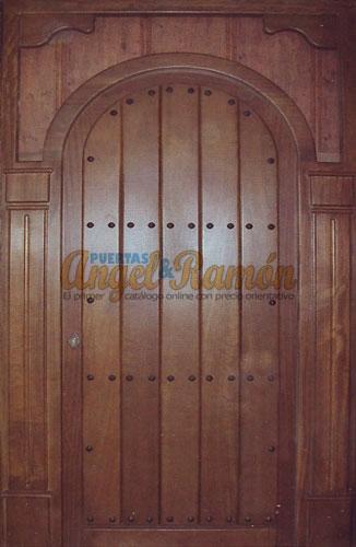Puertas de madera con fijos y montantes for Puertas madera rusticas interior