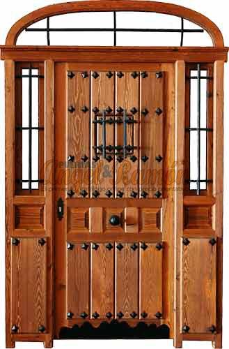 Puertas de madera con fijos y montantes for Puertas de calle rusticas