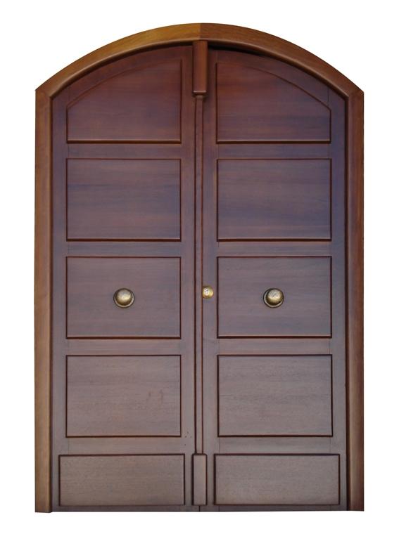 Portones doble hoja for Puertas dobles de madera exterior